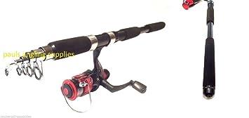 shakespeare firebird carbon fishing telescopic travel fishing rod