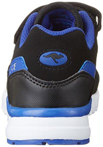 KangaROOS UK IV - Zapatilla Baja Unisex Niños Mehrfarbig (Black/electric Blue)