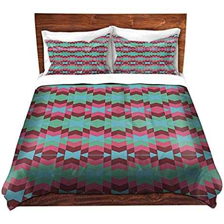 DiaNoche Designs Nika Martinez Flor De Luna Brushed Twill Home Decor Bedding Cover 8 King Duvet Sham Set
