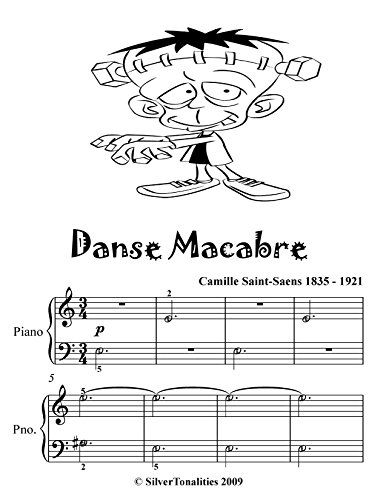 Danse Macabre Easy Piano Sheet Music Tadpole Edition -
