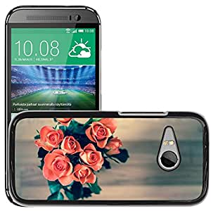Hot Style Cell Phone PC Hard Case Cover // M00306941 Roses Flowers Bouquet Love Nature // HTC One Mini 2 / M8 MINI / (Not Fits M8)