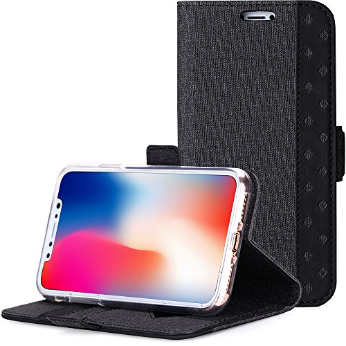Apple-iPhone-X-CaseiPhone-10-Case-ProCase-Folio-Folding-Wallet-Case-Flip-Cover-Protective-Case-for-Apple-iPhone-XiPhone-10-2017-Release-with-Card-Slots-Cash-Clip-and-Kickstand