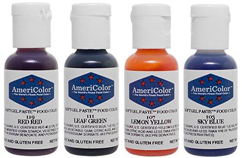 Amazon.com: Food Coloring AmeriColor - Beginner Kit Soft Gel Paste ...