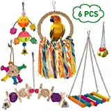 LiMio 6pcs Parakeet Toys, Bird Perch for Conures, Parrot Chewing Toys for Cockatiels