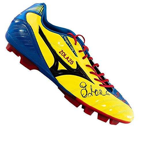 Gianfranco Zola Signed Football Boot - Mizuno Autograph Cleat - Autographed Soccer Cleats