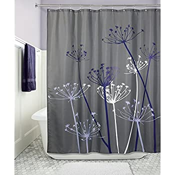purple and brown shower curtain. InterDesign Thistle Shower Curtain  Standard Gray and Purple Amazon com