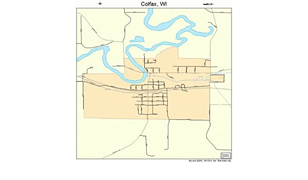 Colfax Wisconsin Map.Amazon Com Large Street Road Map Of Colfax Wisconsin Wi