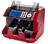 Bank Grade Bill Cash Counter by Carnation – Fast, User-Friendly Money Counting Machine – 4 Counterfeit Detection Functions (UV, MG, MT, IR) – Works Worldwide: Up to 7 Different Currencies
