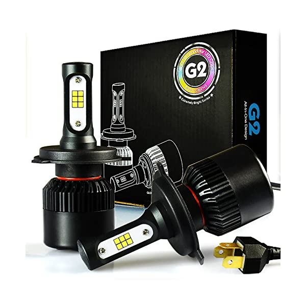 JDM ASTAR G2 8000 Lumens Extremely Bright CSP Chips H11 H9 H8 All In One LED Headlight Bulbs Conversion Kit, Xenon White