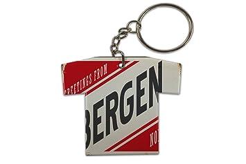 Llavero Pasión Viajes Ciudad Bergen Noruega Jersey impreso ...