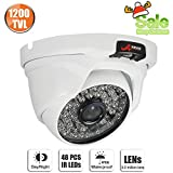 1200TVL Security Dome Camera Day Night Home CCTV System 3.6mm Wide Lens 48 LEDS Surveillance Camera SW SWINWAY & ANRAN