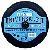 "Marathon Universal Fit Flat Free Hand Truck/Utility Tire on Wheel, 4.10/3.50-4"" Tire, Spacer/Bushing Kit Included"