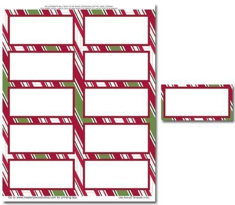 Holiday Stripes Mailing Label