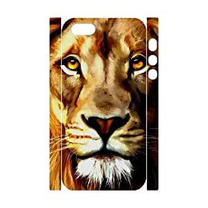 3D Bumper Plastic Customized Case Of Lion for iPhone 5,5S by icecream design