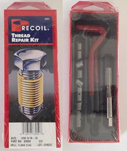 Recoil 33050 Wire Thread Repair Kit Standard UNC 5/16-18