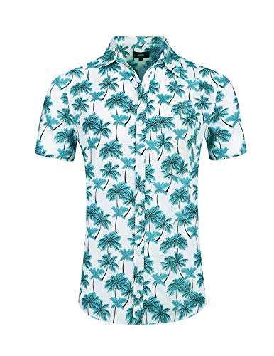 1f0edb489 NUTEXROL Hawaiian Shirts Mens Bamboo Print Beach Aloha Party Holiday print1  3XL