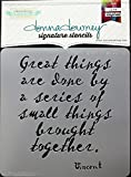 Donna Downey Stencils DD-114 Signature Stencils 8.5''X8.5''-Vincent-Great Things