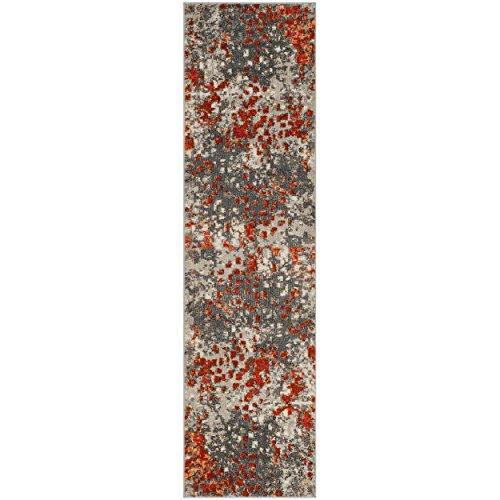 (Safavieh Monaco Collection MNC225H Modern Abstract Grey and Orange Runner (2'2