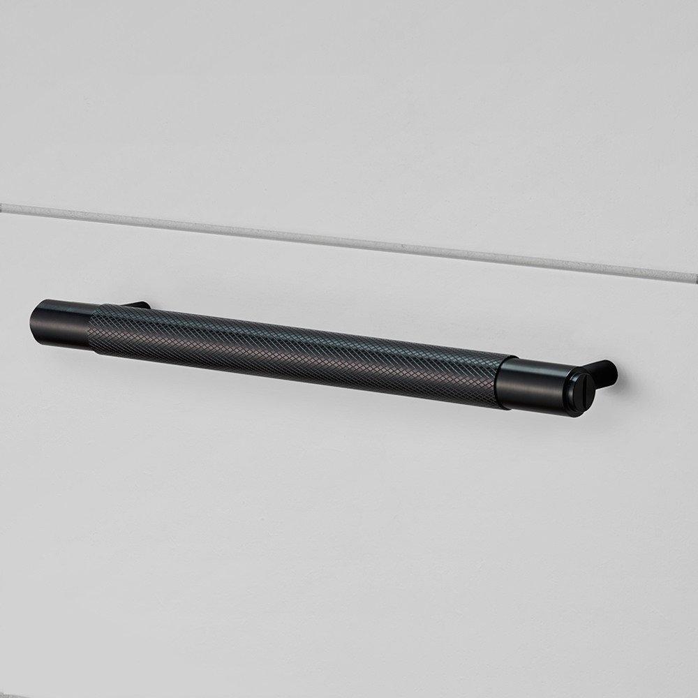 Pull Bar/Metall schwarz Schrank ziehen Griff mit Rändelung massiv ...