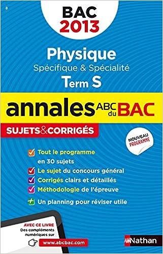 Physique Tle S : Sujets & corrigés (ABC du Bac): Amazon.es: Michel Faye, Collectif: Libros en idiomas extranjeros