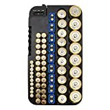 OUNONA Battery Organizer with Removable Battery Tester Battery Storage Case Holds 72 Batteries Various Sizes