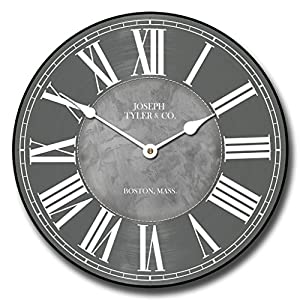 Waterford Gray Wall Clock, Available in 8 sizes, Most Sizes Ship
