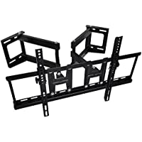 Happyjoy Corner TV Wall Mount TV Bracket Tilt for 32-70 Inch Flat Plasma LED LCD TVs with VESA Max 600x400mm -Articulating Dual Arm Full Motion Wall Bracket