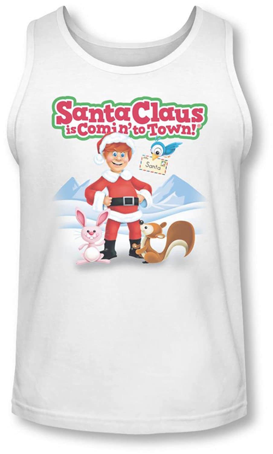 Santa Claus Is Comin To Town - Mens Animal Friends Tank-Top