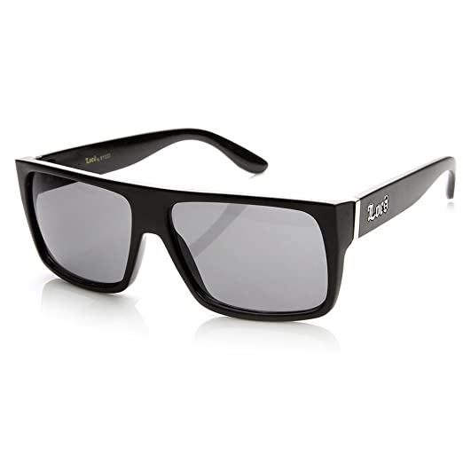 c778bf825f Image Unavailable. Image not available for. Color  Locs Hardcore Shades  Classic Flat Top Rectangle Sunglasses (Matte-Black)