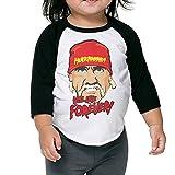 Hulk Hogan Hulkamania Will Live Forever Children's 3/4 Sleeve Baseball T Shirt 4 Toddler Black