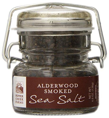 Pepper Creek Farms Sea Salt, Alderwood Smoked, 4.8 Ounce ()