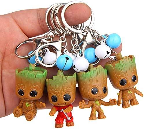 ADIUMA 4 pi/èces Cute Q Version Figurine daction porte-cl/és accessoires danimal sac pendentif porte-cl/és bijoux pour femmes enfants