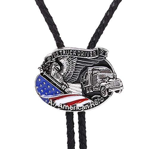 Truck Driver Eagle Bolo Tie An American Hero Western Men Novelty Necktie