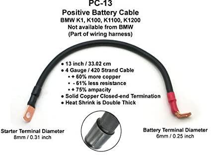 amazon com battery cable kit 4 gauge bmw k series negative positive rh amazon com