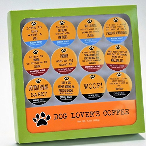 DOG LOVER'S Single Serve Coffee Variety Cups - 12 Cup Gift Box