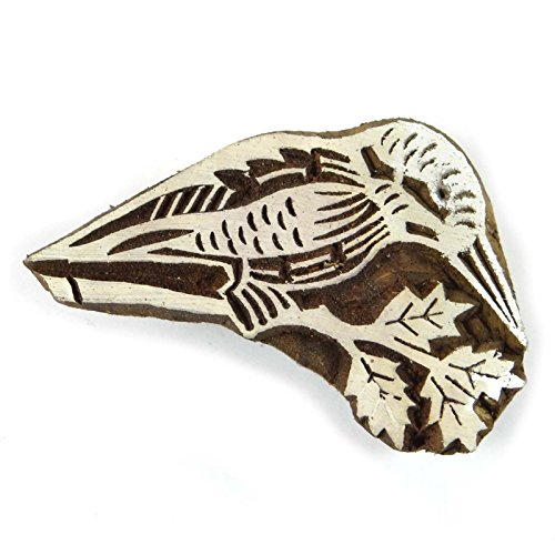 Wooden Printing Block Bird Art Hand Carved Textile Stamp Printer Stamp Printers Block