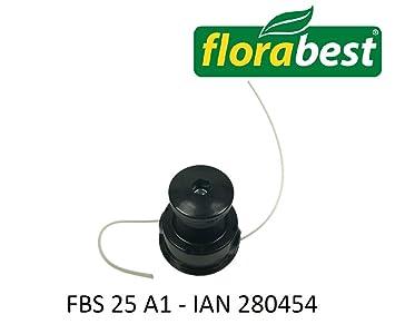 Flora Best FBS 25 A1 - Cabezal de corte Ian 280454 Incluye Bobina, spulenhalterung y Hilos para Flora Best Lidl Gasolina Sense: Amazon.es: Jardín
