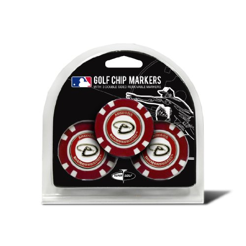 - Team Golf MLB Arizona Diamondbacks Golf Chip Ball Markers (3 Count), Poker Chip Size with Pop Out Smaller Double-Sided Enamel Markers
