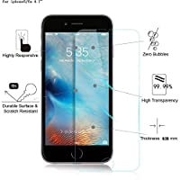 TANTEK 3D Touch Anti-Bubble HD Ultra Clear Tempered Glass Screen Protector for iPhone 6 / 6S (2 Pack) from TANTEK