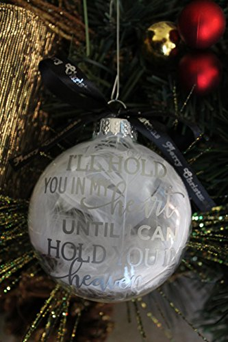 miscarriage ornament in loving memory infant loss gift baby memorial feather christmas ornament sids