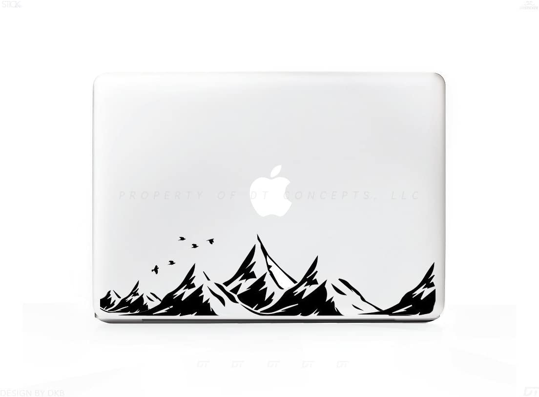 Mountains # 3 and Birds Sticker Decal For MacBook Pro, PC, Laptop, Window, Car, or Wall
