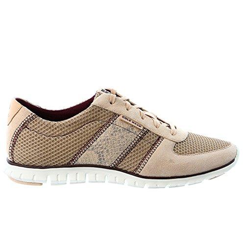 Cole Haan Zerogrand Fashion Sneaker Shoe – Maple Sugar Mesh/Canyon Rose Suede – Womens – 7.5