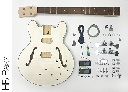 diy electric bass guitar kit hollow body bass build your own. Black Bedroom Furniture Sets. Home Design Ideas