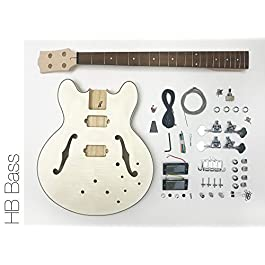 DIY Electric Bass Guitar Kit – Semi Hollow Body Bass Build Your Own