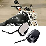 OKSTNO Rearview Mirrors For FLSTC FXDB DYNA FXDF FLSTF 8mm (Black)
