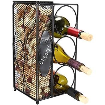 Amazon Com J Amp J Wire Triple Wine Bottle Holder Wine