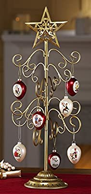 Joyous Holiday Tree Christmas Ornament Holder