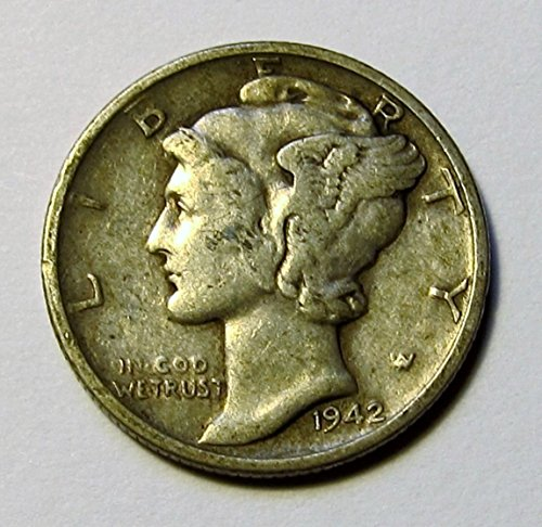 1916 - 1945 90% Silver Mercury Dimes Circulated (Mixed Dates and Mint Marks) .10c Dime Circulated