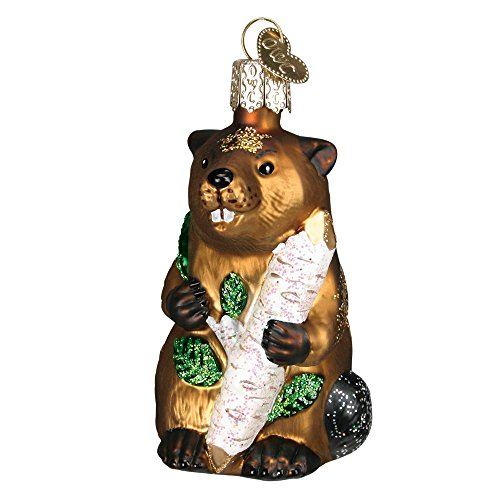 Old World Christmas Beaver Glass Blown Ornament by Old World Christmas