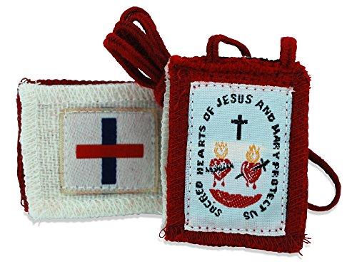 Authentic Catholic Scapular - 100% Wool (Five-Fold Scapular)